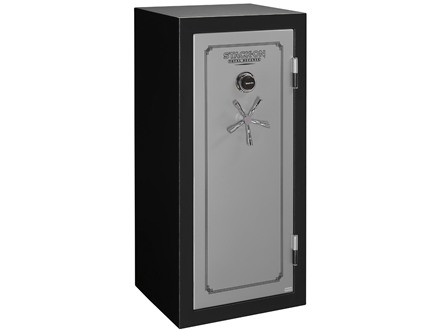 Stack-On Total Defense Fire-Resistant 22-Gun Safe with Electronic Lock Matte Black and Silver with Door Storage