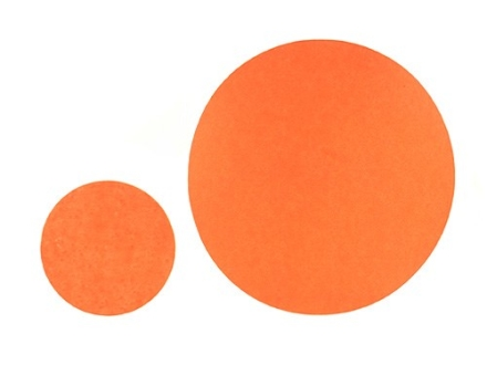 "Hoppe's Bullseye Target Dots 1"" and 2"" Self-Adhesive Orange Package of 70 (35 of Each)"