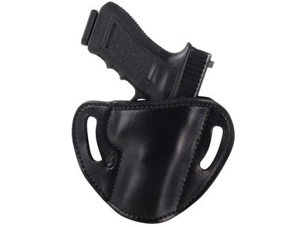El Paso Saddlery #88 Street Combat Outside the Waistband Holster Right Hand Glock 17, 22, 31 Leather Black