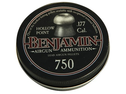 Benjamin Airgun Pellets 177 Caliber 7.9 Grain Pointed Tin of 750