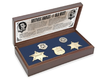 Collector's Armoury Replica Old West Badge Collection in Wood Presentation Box