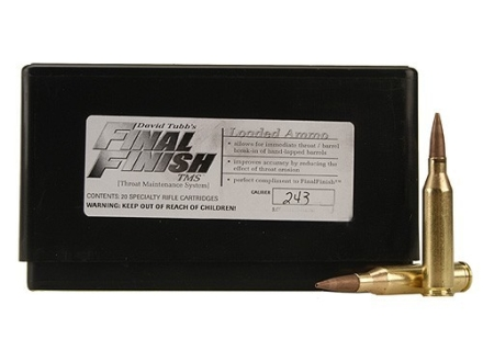 Tubb Final Finish Throat Maintenance System TMS Ammunition 243 Winchester Box of 20