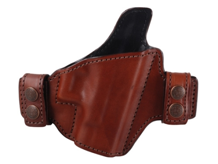 Bianchi Allusion Series 125 Consent Outside the Waistband Holster Right Hand Glock 26, 27, 33 Leather Tan