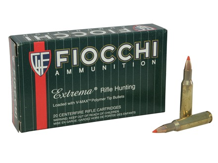 Fiocchi Shooting Dynamics Ammunition 222 Remington 50 Grain Hornady V-Max Box of 20