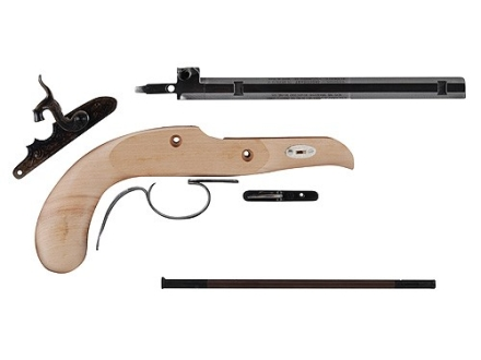"Traditions Pioneer Black Powder Pistol Unassembled Kit 45 Caliber Percussion 1 in 16"" Twist 9-5/8"" Barrel in the White"