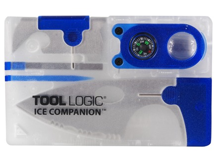 Tool Logic ICE Companion Multi-Tool ABS Polymer Clear/Blue with Lens and Compass