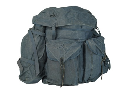 Military Surplus Italian Canvas Rucksack Blue