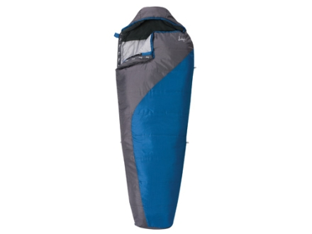 "Slumberjack Lone Pine 40 Degree Tall Sleeping Bag 33"" x 86"" Polyester Blue and Gray"