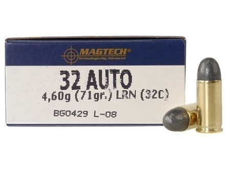 Magtech Sport Ammunition 32 ACP 71 Grain Lead Round Nose Box of 50