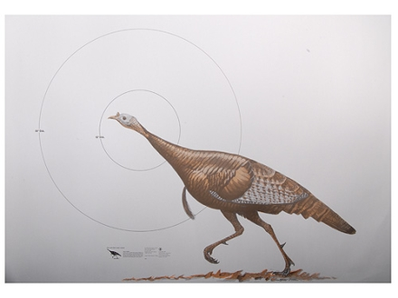 NRA Official Lifesize Game Target Wild Turkey Paper Package of 12