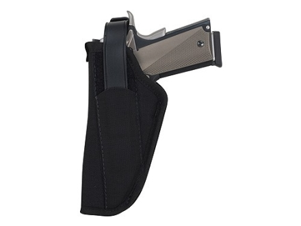 "BlackHawk Hip Holster with Thumb Break Left Hand Large Frame Semi-Automatic 3-.75"" to 4.5"" Barrel Nylon Black"