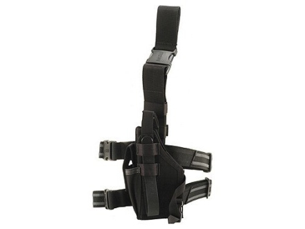 BlackHawk Omega 6 Elite Drop Leg Holster Left Hand Glock 20, 21, HK USP 40, 45, S&W M&P 45 Nylon Black