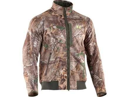Under Armour Men's Dead Calm Scent Control Fleece Jacket Polyester Realtree Xtra Camo Large 42-44