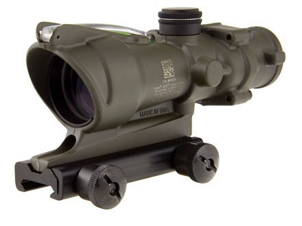 Trijicon ACOG TA31 BAC Rifle Scope 4x 32mm Dual-Illuminated Horseshoe Dot 223 Remington Reticle with TA51 Flattop Mount Matte