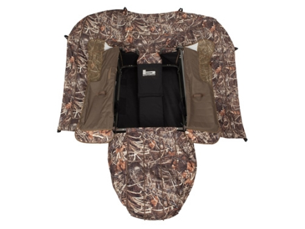 Banded Gear Cross Cut Layout Blind Polyester Realtree Max-4 Camo