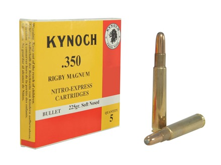 Kynoch Ammunition 350 Rigby 225 Grain Woodleigh Weldcore Soft Point Box of 5