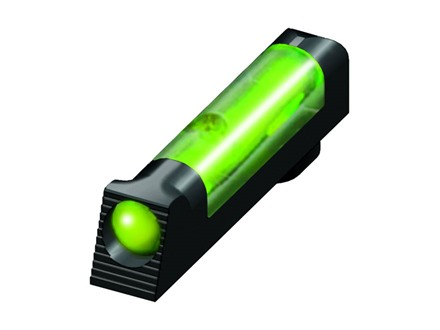 "HIVIZ Tactical Front Sight Glock All Models (Except Compensated) .162"" Height Steel .120"" Large Diameter Fiber Optic Green"