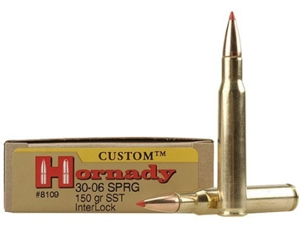 Hornady Custom Ammunition 30-06 Springfield 150 Grain InterLock SST Box of 20