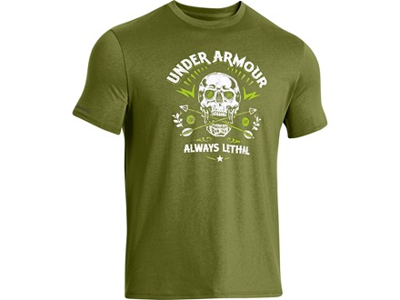 Under Armour Men's Lethal Skull T-Shirt Short Sleeve Cotton and Polyester Blend