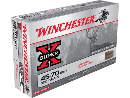 Winchester Super-X Ammunition 45-70 Government 300 Grain Jacketed Hollow Point Box of 20