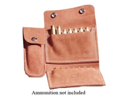 Hunter Quick Belt Slide Folding Rifle Ammunition and Knife Carrier 14-Round up to 30-06 Springfield Suede Brown