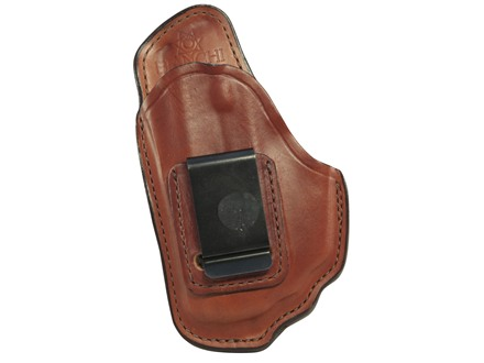 Bianchi 100 Professional Inside the Waistband Holster Left Hand Ruger LC9 with Crimson Trace LG412 Laser Leather Tan