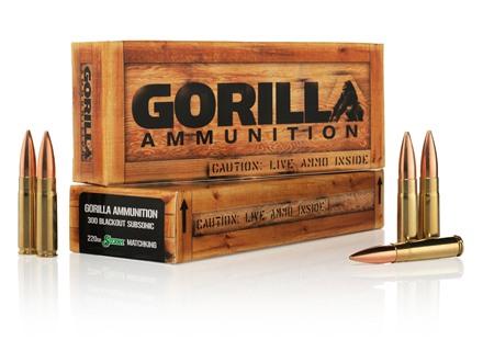 Gorilla Ammunition 300 AAC Blackout 220 Grain Sierra MatchKing Subsonic