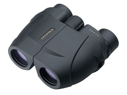 Leupold Green Ring Rogue Compact Binocular 25mm Porro Prism Armored Black
