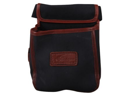 The Outdoor Connection Extreme Shotshell Pouch with Belt Synthetic with Leather Trim Black/Tan