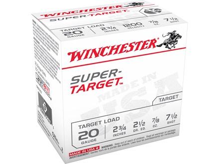 """Winchester Super-Target Ammunition 20 Gauge 2-3/4"""" 7/8 oz #7-1/2 Shot"""