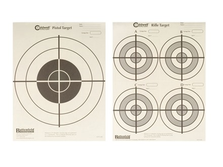 "Caldwell Front-N-Back Target 8-1/2"" x 11"" Package of 250"