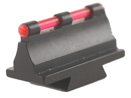 "Williams Fire Sight Rifle Bead .450"" Height, .340"" Width Steel Blue 3/32"" Fiber Optic Red"