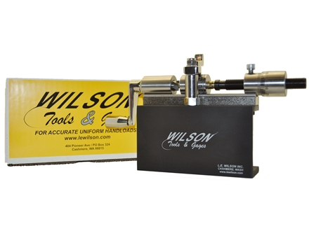 L.E. Wilson Micrometer Case Trimmer Stainless Steel Case Trimming Kit