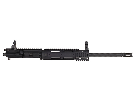 "Yankee Hill AR-15 Smooth Carbine Upper Assembly 5.56x45mm NATO 1 in 7"" Twist 16"" Fluted Barrel Chrome Lined with Smooth Rail Free Float Handguard, Flip-Up Sights, Flash Hider"
