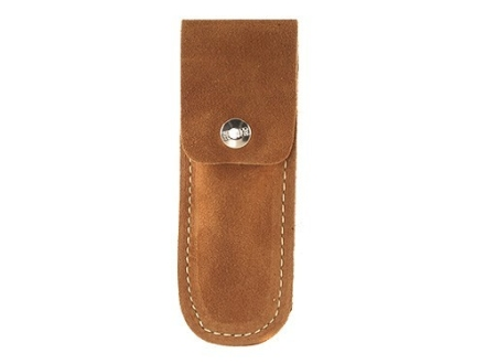 "Hunter Belt Knife Sheath for Folding Knife 4-1/2"" to 6"" Suede Brown"