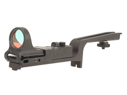 C-More Scout Reflex Sight 8 MOA Red Dot with Click Switch and AR-15 Carry Handle Mount Polymer Matte