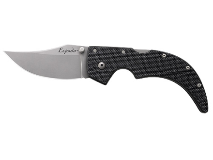 Cold Steel G-10 Espada Folding Knife Clip Point AUS 8A Stainless Steel Blade G-10 Handle Black