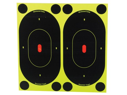 """Birchwood Casey Shoot-N-C Target 7"""" Silhouette Package of 60 with 240 Pasters"""