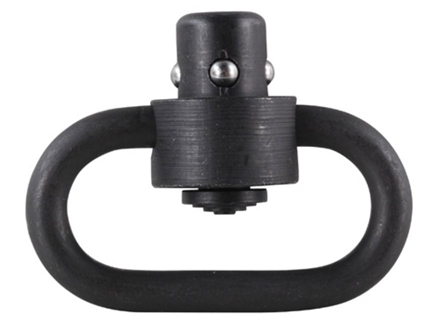 "GG&G Enhanced Heavy Duty Push Button Quick Detach Sling Swivel 1-1/4"" Steel Matte"