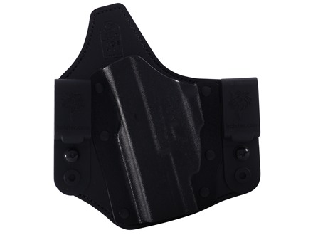 DeSantis Intruder Inside the Waistband Holster Left Hand Glock 19, 23, 32 with Crimson Trace CRM-201 Kydex and Leather Black