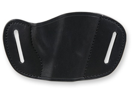 Bulldog Belt Slide Holster Fits Small and Mini autos Right Hand Leather Black