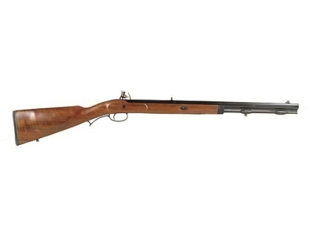 "Lyman Deerstalker Black Powder Rifle 50 Caliber Flintlock Wood Stock 1 in 48"" Twist 24"" Barrel Blue Left Hand"