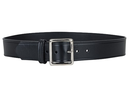 "Gould & Goodrich B52 Belt 1-3/4"" Nickel Plated Brass Buckle Leather Black 40"""