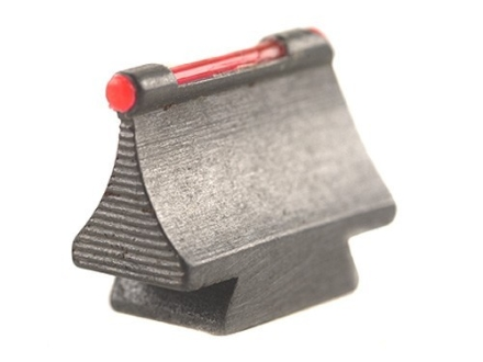 "Williams Fire Sight Rifle Bead .450"" Height, .250"" Width Steel Blue 3/32"" Fiber Optic Red"