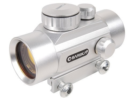 Barska Red Dot Sight 30mm Tube 1x 5 MOA Dot with Integral Weaver-Style Mount Silver