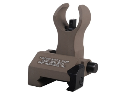 Troy Industries Front Flip-Up Battle Sight HK-Style with Tritium AR-15 Handguard Height Aluminum Flat Dark Earth