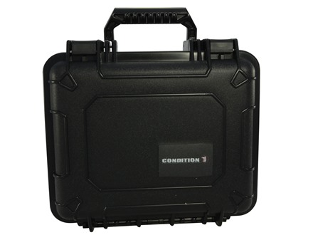 "Condition 1 101185 Hard Case  9.3"" x 7.2"" x 6.1"" Polymer Black"