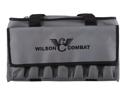 "Wilson Combat Pistol Gun Case 8-1/2"" x 13-1/2"" Nylon Blue or Gray with Logo"