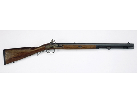 "Lyman Deerstalker Black Powder Rifle 50 Caliber Flintlock Wood Stock 1 in 48"" Twist 24"" Barrel Blue"