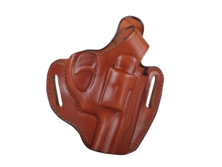 Bianchi 56 Serpent Outside the Waistband Holster Right Hand Ruger LCR Leather Brown